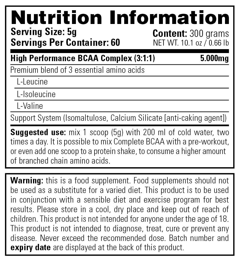Όνομα: 01-130-071 Complete BCAA 300g-Nutrition-Information.png Εμφανίσεις: 193 Μέγεθος: 36,4 KB